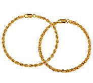 Veronese 18K Clad Set of 2 7-1/2 Bracelets - J299073