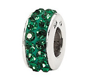 Prerogatives Dark Green Double Row Swarovski Crystal Bead - J299573
