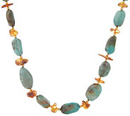 Lee Sands Amber & Turquoise 28 Necklace - J302773