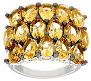 Semi-Precious Multi-Cut Bold Sterling Silver Ring 6.00 cttw - J324273