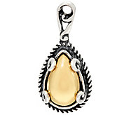 Carolyn Pollack Sterling and Brass Cabochon Signature Charm - J329573