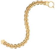 14K Gold 6-3/4 Braided Woven Bracelet, 7.2g - J331573