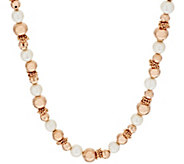 As Is Honora Cultured Pearl 10.0mm Bronze Bead Necklace - J333373