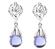 Kalos by Hagit Sterling Blue Glass Drop Earrings - J338073