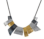 Sterling Abstract Statement Necklace by Or Paz - J338373