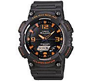 Casio Mens Tough Solar Orange Analog/Digital Sport Watch - J338573