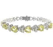 Judith Ripka Sterling Gemstone Heart Tennis Bracelet, 7-3/4 - J338973
