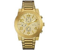 Caravelle New York Mens Goldtone Dress Bracelet Watch - J339773