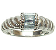 Judith Ripka Sterling Silver and Aquamarine Ring - J339973