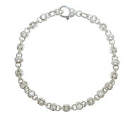Judith Ripka Sterling 100-Facet Diamonique 10Ankle Bracelet - J340173