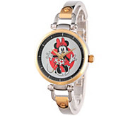 Disney Minnie Mouse Womens Two-Tone Bracelet Watch - J342273