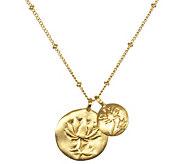 Satya Double Lotus 18 Necklace - J342773