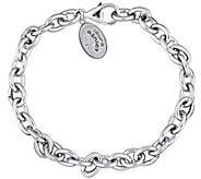 Laura Ashley Sterling Silver 7-1/4 Rolo Bracelet - J345473