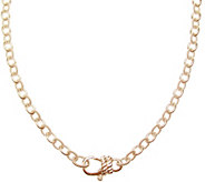 Judith Ripka Sterling 14K Rose Gold-Clad 24 Chain Necklace - J345773