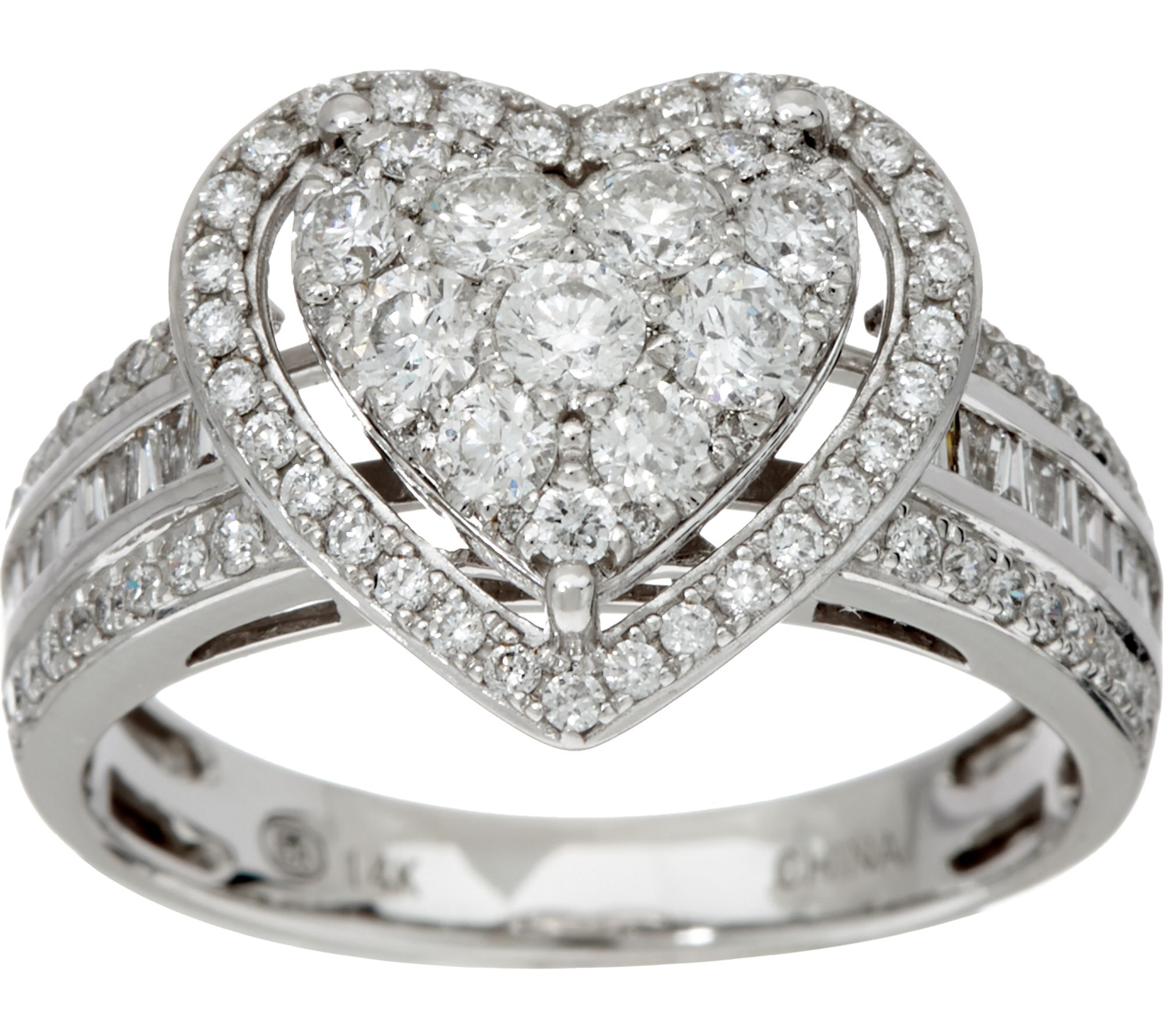 1 00 cttw Heart Cluster Diamond Ring 14K Gold by Affinity Page 1