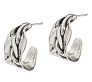 Hagit Sterling Silver Twisted Willow Hoop Earrings - J347573