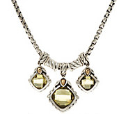 JAI Sterling Silver & 14K Green-Gold Quartz Necklace - J347673