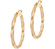 Bronze 1 Twisted Round Hoop Earrings by Bronzo Italia - J349373