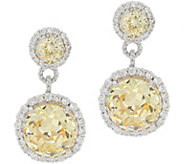 Judith Ripka Sterling Silver Canary Diamonique Drop Earrings - J349773