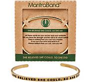 MantraBand Goldtone Inspirational Cuff Bracelet - J350573