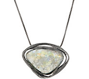 Or Paz Sterling Free-form Roman Glass Necklace - J351573