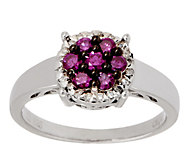 Purple Diamond Cluster Ring, 2/5 cttw, Sterling, by Affinity - J354773