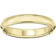 Womens 14K Yellow Gold 4mm Milgrain Wedding Band - J375573
