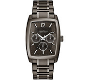 Caravelle New York Mens Gunmetal IP Multi-Function Dial Watc - J375973