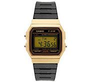 Casio Mens Black and Gold Digital Watch - J376473