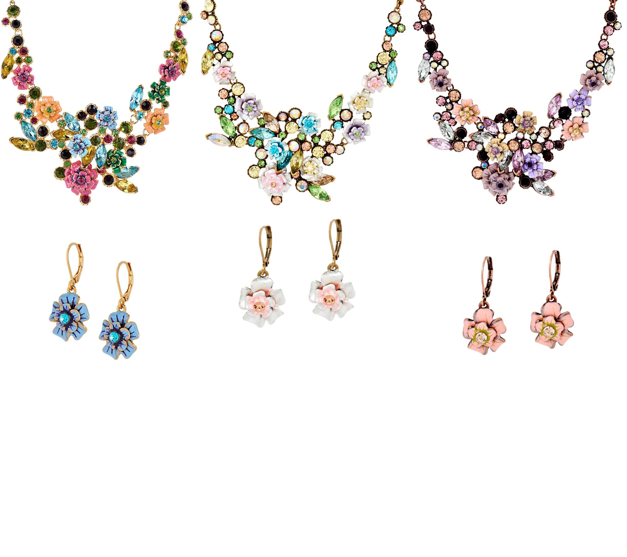 Joan rivers language of flowers necklace and earrings set for Joan rivers jewelry necklaces