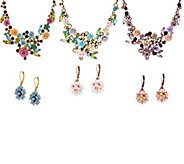 Joan Rivers Language of Flowers Necklace and Earrings Set - J55973