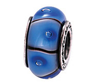 Prerogatives Sterling Blue and Black Glass Bead - J108874