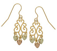 Black Hills Filigree Mini Chandelier Earrings,1 0K/12K/14K - J109874