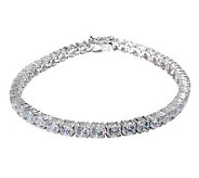 Diamonique Simulated Diamond Tennis Bracelet Platinum Clad - J263574