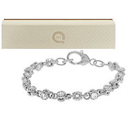 Judith Ripka 100-Facet Diamonique 4.85ct Small RollingBracelet - J266574