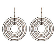 VicenzaSilver Sterling Diamond Cut and Textured Dangle Earrings - J271074
