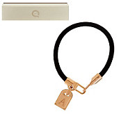 Rose Bronze Initial Tag Leather Bracelet by Bronzo Italia - J279174