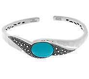 Michael Dawkins Starry Night Sterling Silver Sleeping Beauty Turquoise Cuff - J295274