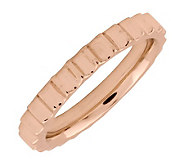 Simply Stacks Sterl. 18K Rose Gold-Plated 3.25mm Step Ring - J298074