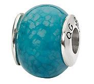 Prerogatives Sterling Blue Crackle Agate Gemstone Bead - J298174
