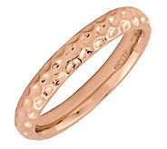 Simply Stacks Sterling 18K Rose Gold-Plated Dimple 3.25mm Ring - J298974