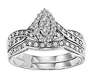 Marquise Diamond 2-Piece Ring Set, 14K, 1/3cttw, by Affinity - J311374