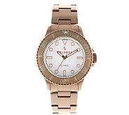 Peugeot Womens Rosetone Ratchet Bezel Watch - J312674