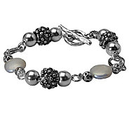 Or Paz Sterling Bead Cultured Coin Pearl Average Bracelet - J314174