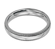 Stainless Steel 4mm Polished Milgrain Ring - J314274