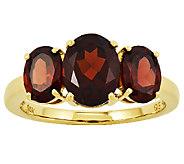 Three-Stone Oval Gemstone Ring, 14K Yellow Gold - J315974