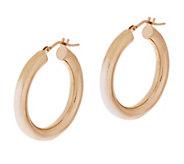 As Is Bronzo Italia 1 Bold Polished Round Hoop Earrings - J318774