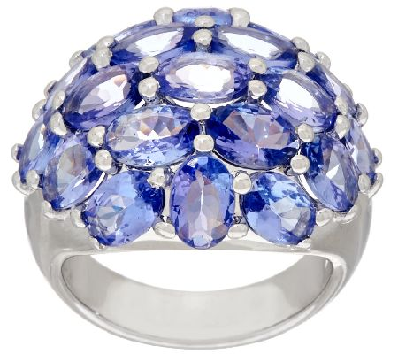 Tanzanite Cluster Design Ring by Silver Style, 7.50 ct tw