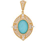 Judith Ripka Sterling & 14K Clad Turquoise Enhancer - J321974