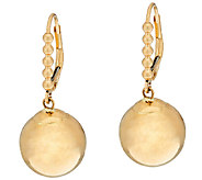 EternaGold 12.0mm Bead Lever Back Earrings 14K Gold - J323174